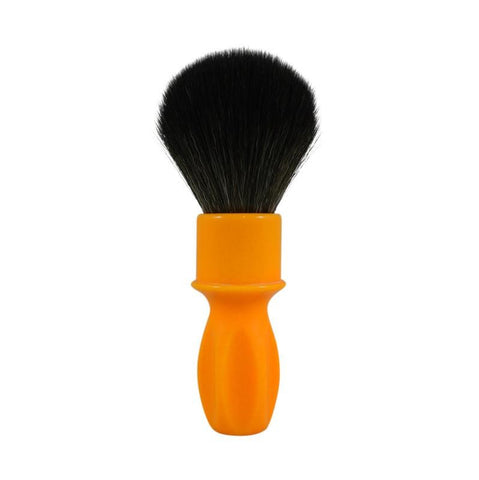 RazoRock 400 Synthetic Shaving Brush - Butterscotch Resin Handle With NOIR Plissoft - FineShave