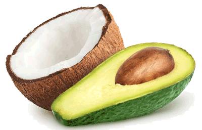 Healthiest Low Carb Keto fruits - Coconut and Avocado