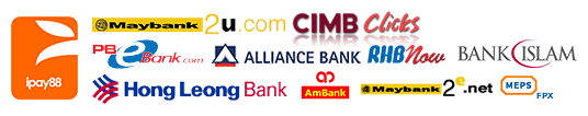 Rainforest Balance accepts online payment for al major Malaysian banks via iPayy88