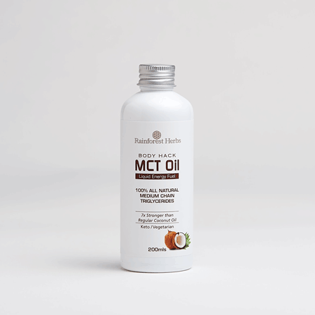 Rainforest Herbs Body Hack MCT Oil Caprylic Capric Acid Blend