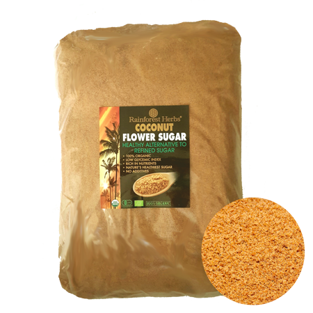 Organic Coconut Sugar 5kg Bulk Pack - Rainforest Herbs