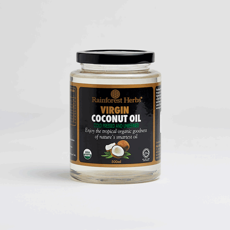 Organic Virgin Coconut Oil 500ml Jar - Rainforest Herbs