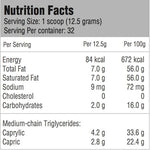 KetoCrème MCT Coffee Powder Nutrition Facts