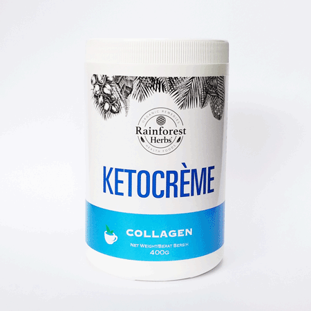 Rainforest Herbs KetoCreme Collagen with MCT Powder Malaysia