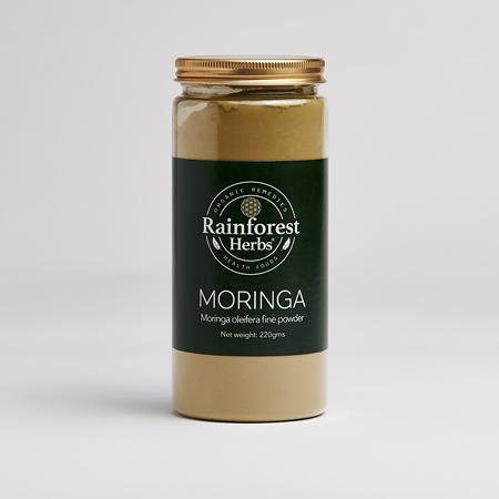 Moringa Cut Leaf Tea 150gm - Rainforest Herbs