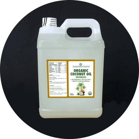 Organic Odourless Coconut Oil 5 litres - Rainforest Herbs
