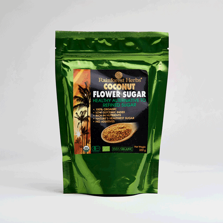 Rainforest Herbs Organic Coconut Sugar is available in Malaysia