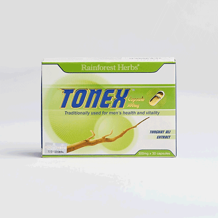 Tonex Tongkat Ali Capsules made from 100% wild tongkat ali root extract