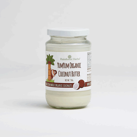 YumYum Organic Coconut Butter 350gm from Rainforest Herbs Malaysia