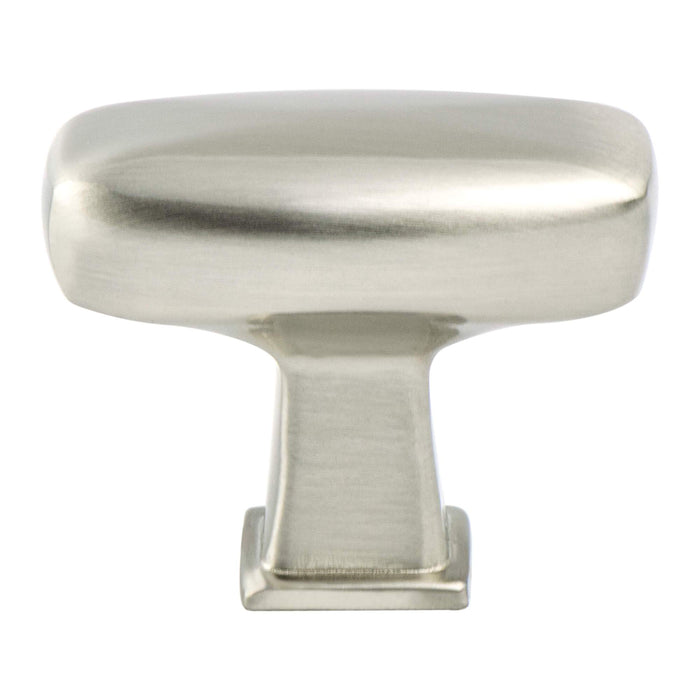Berenson B-1236-1BPN Subtle Surge Brushed Nickel Rectangular Knob - Knob Depot