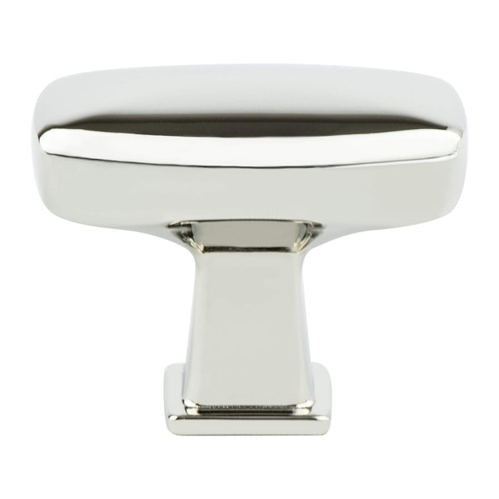 Berenson B-1238-1014 Subtle Surge Polished Nickel Rectangular Knob - KnobDepot.com