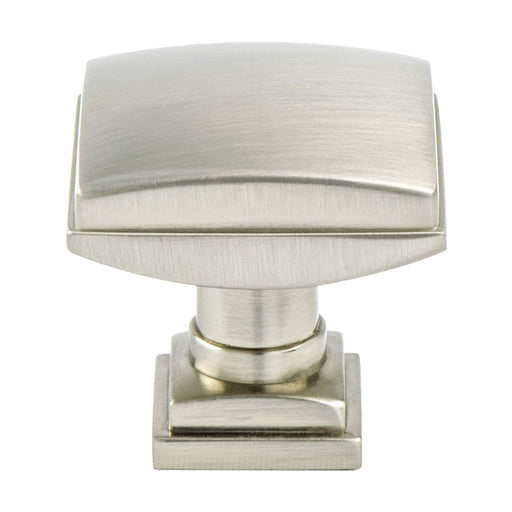 Berenson B-1272-1BPN Tailored Traditional Brushed Nickel Square Knob - KnobDepot.com
