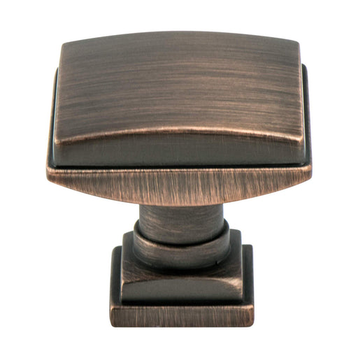 Berenson B-1273-10VB Tailored Traditional Verona Bronze Square Knob - KnobDepot.com