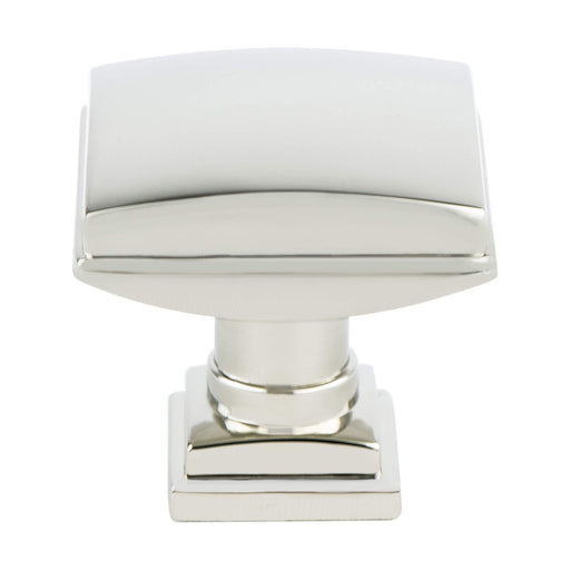 Berenson B-1274-1014 Tailored Traditional Polished Nickel Square Knob - KnobDepot.com