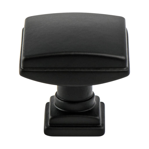 Berenson B-1275-1055 Tailored Traditional Matte Black Square Knob - KnobDepot.com