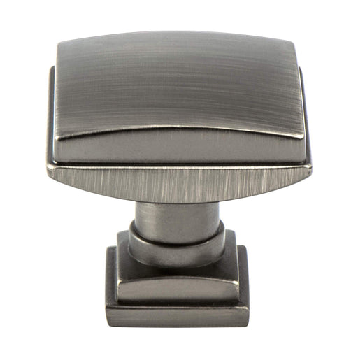 Berenson B-1277-1VTN Tailored Traditional Vintage Nickel Square Knob - KnobDepot.com