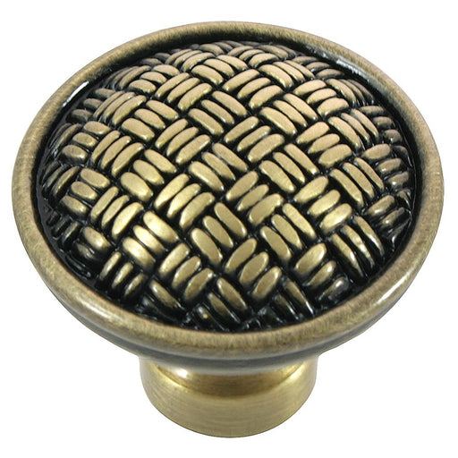 MNG Hardware M-14510 The Rattan Collection Satin Antique Silver Round Knob - KnobDepot.com