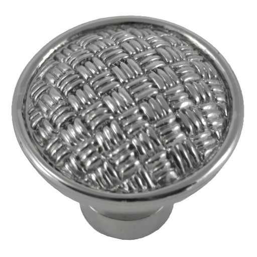 MNG Hardware M-14514 The Rattan Collection Polished Nickel Round Knob - Knob Depot