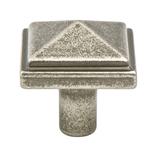 Berenson B-3051-1WN Rhapsody Weathered Nickel Square Knob - Knob Depot