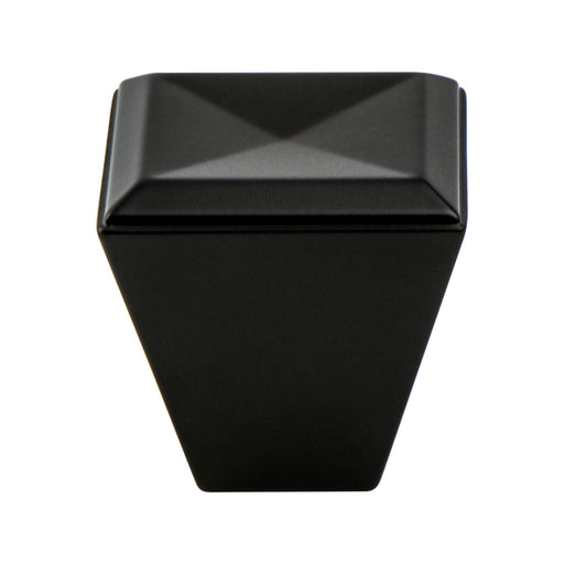 Berenson B-4008-1055 Connections Matte Black Square Knob - Knob Depot