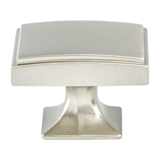 Berenson B-4083-1BPN Hearthstone Brushed Nickel Rectangular Knob - KnobDepot.com