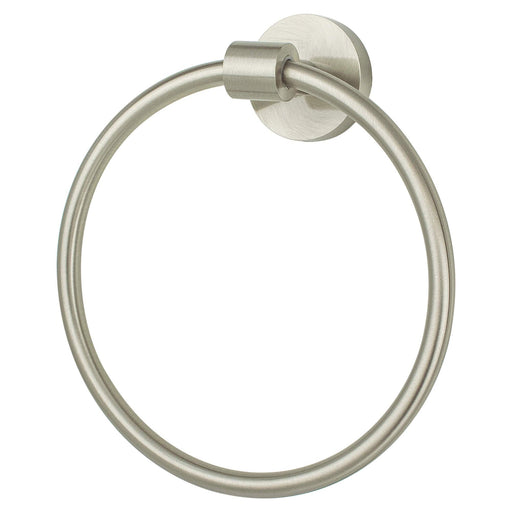 R. Christensen RC-6111-3BPN Pipe Dreams - Bathroom Brushed Nickel Towel Ring - KnobDepot.com