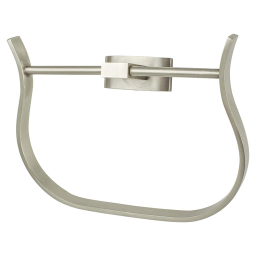 R. Christensen RC-6511-3BPN Curve Appeal - Bathroom Brushed Nickel Towel Ring - KnobDepot.com