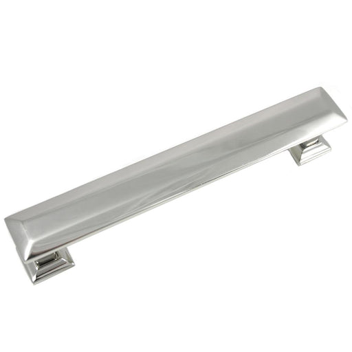 MNG Hardware M-83714 The Poise Collection Polished Nickel Pull with Backplate - KnobDepot.com