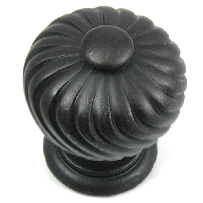MNG Hardware M-83913 The French Twist Collection Oil Rubbed Bronze Round Knob - Knob Depot