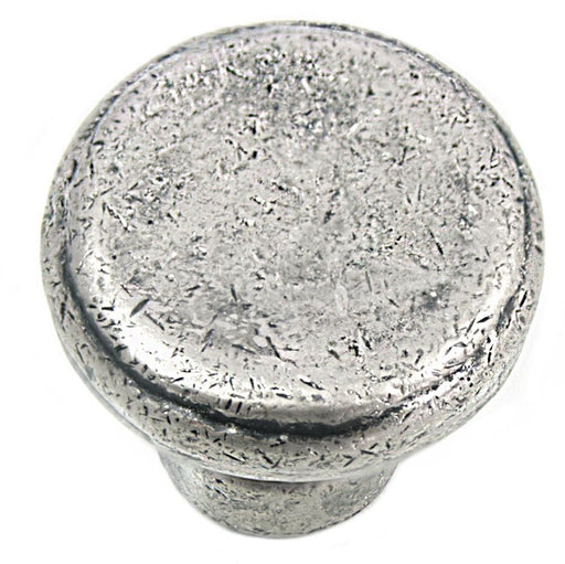 MNG Hardware M-84364 The Riverstone Collection Distressed Pewter Round Knob - Knob Depot