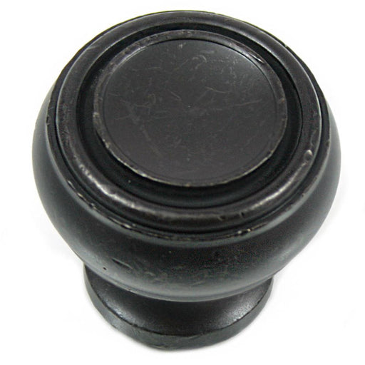 MNG Hardware M-85013 The Balance Collection Distressed Pewter Round Knob - KnobDepot.com