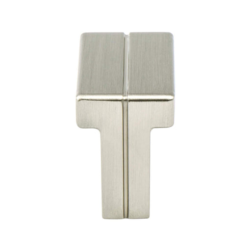 Berenson B-9209-1BPN Skyline Brushed Nickel Rectangular Knob - Knob Depot