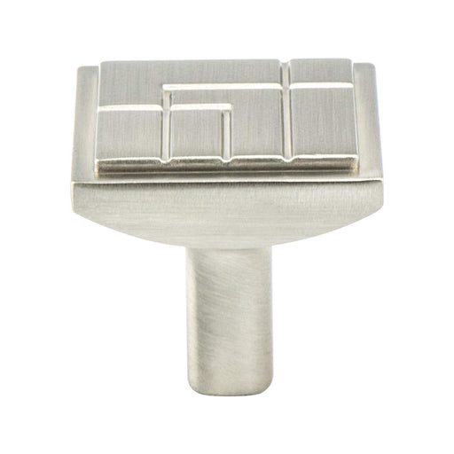 Berenson B-9220-1BPN Oak Park Brushed Nickel Square Knob - KnobDepot.com