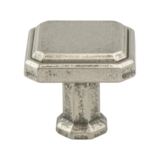 Berenson B-9460-10WN Harmony Weathered Nickel Square Knob - Knob Depot