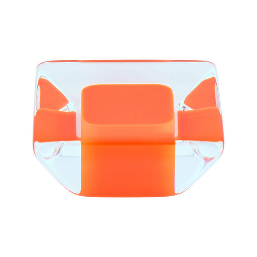R. Christensen RC-9752-7000 Core Orange Transparent Square Knob - Knob Depot