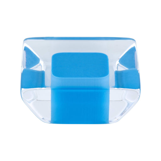 R. Christensen RC-9753-7000 Core Blue/Transparent Square Knob - KnobDepot.com