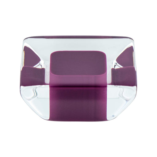 R. Christensen RC-9754-7000 Core Purple/Transparent Square Knob - KnobDepot.com