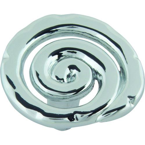 Atlas Homewares AT-140-CH  Scroll Polished Chrome Round Knob - Knob Depot