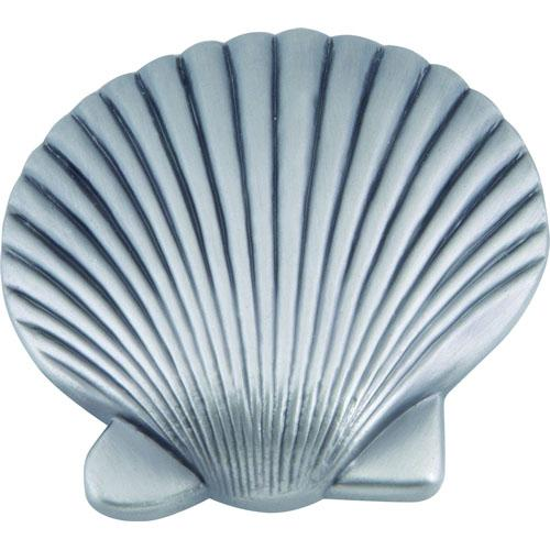 Atlas Homewares AT-143-P  Sea Pewter Clamshell Knob - Knob Depot