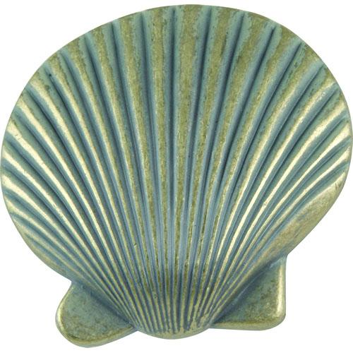Atlas Homewares AT-143-V  Sea Verdigris Clamshell Knob - KnobDepot.com