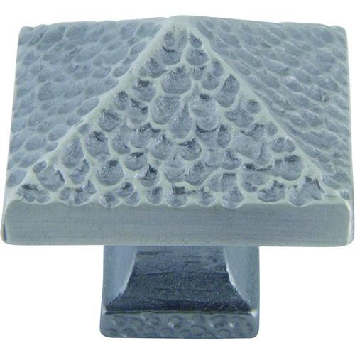 Atlas Homewares AT-2237-NO  American Arts & Crafts Pewter Square Knob - Knob Depot