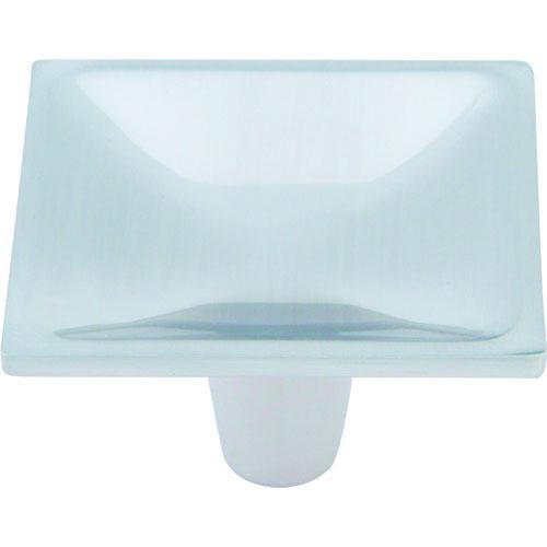 Atlas Homewares AT-227-BRN  Dap Modern Brushed Nickel Square Knob - KnobDepot.com