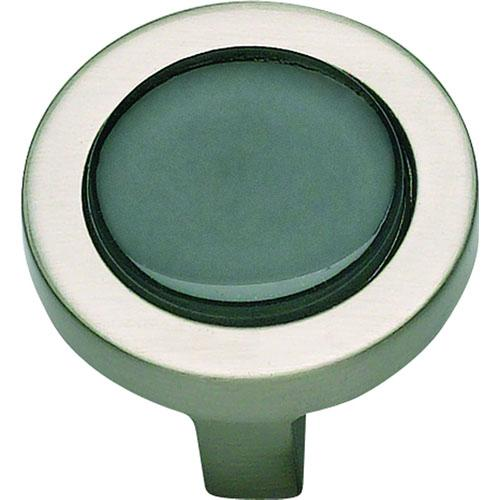Atlas Homewares AT-229-BLK-BRN  Spa Brushed Nickel Round Knob - KnobDepot.com