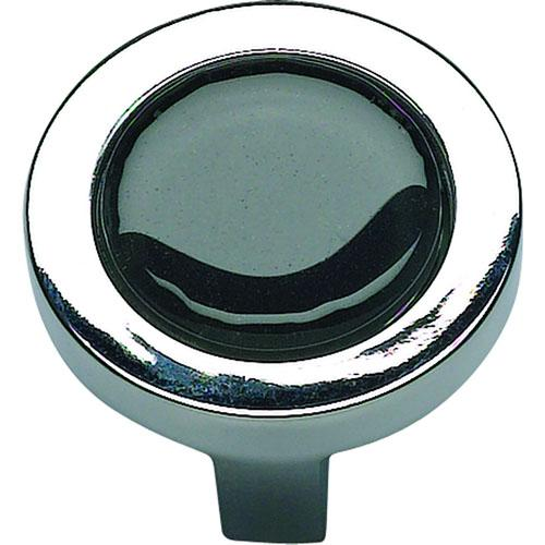 Atlas Homewares AT-229-BLK-CH  Spa Polished Chrome Round Knob - Knob Depot