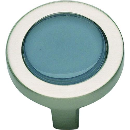 Atlas Homewares AT-229-BLU-BRN  Spa Brushed Nickel Round Knob - KnobDepot.com