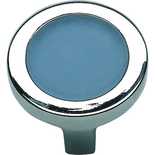 Atlas Homewares AT-229-BLU-CH  Spa Polished Chrome Round Knob - Knob Depot