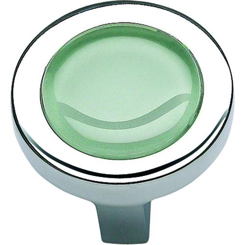 Atlas Homewares AT-229-GR-CH  Spa Polished Chrome Round Knob - KnobDepot.com