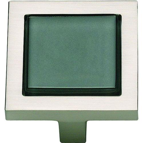 Atlas Homewares AT-230-BLK-BRN  Spa Brushed Nickel Square Knob - KnobDepot.com
