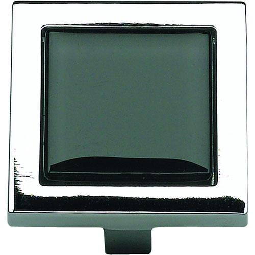 Atlas Homewares AT-230-BLK-CH  Spa Polished Chrome Square Knob - KnobDepot.com