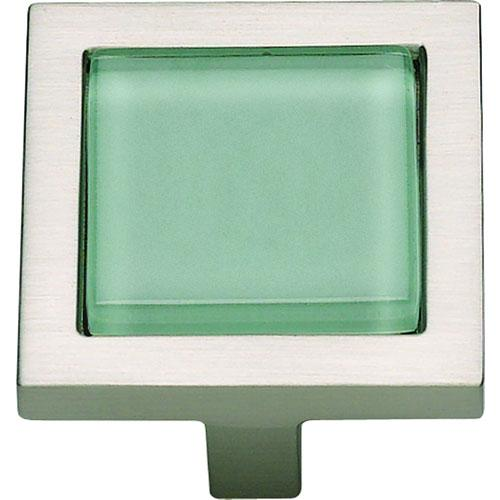 Atlas Homewares AT-230-GR-BRN  Spa Brushed Nickel Square Knob - KnobDepot.com